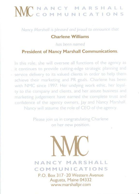 Charlene Named President