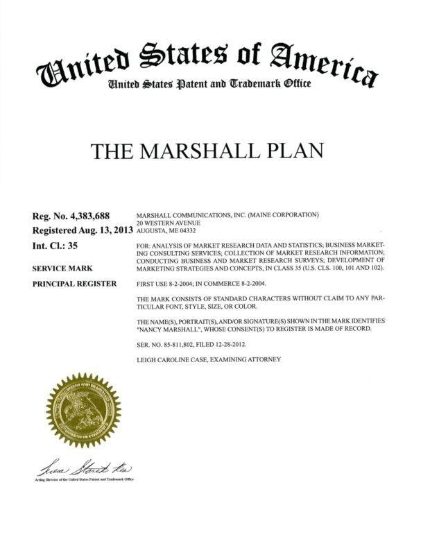 The Marshall Plan Trademark