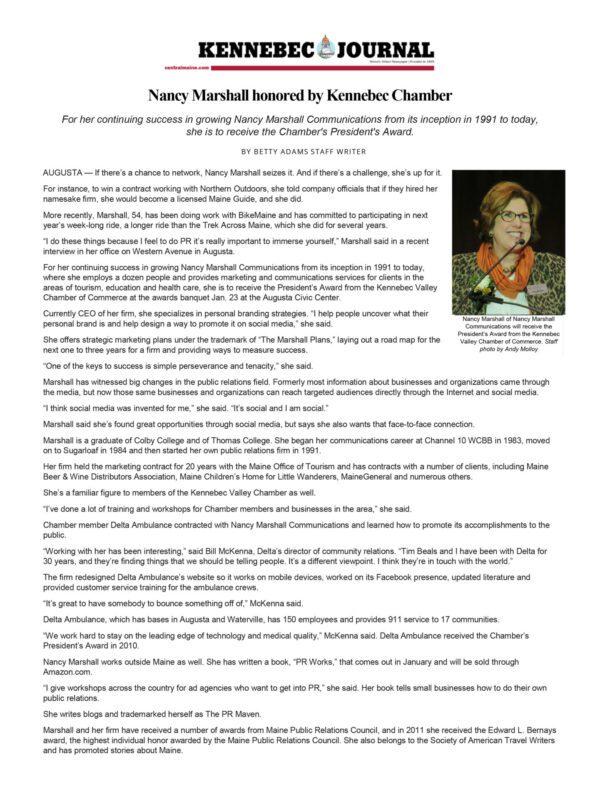 KJ Chamber Award Article