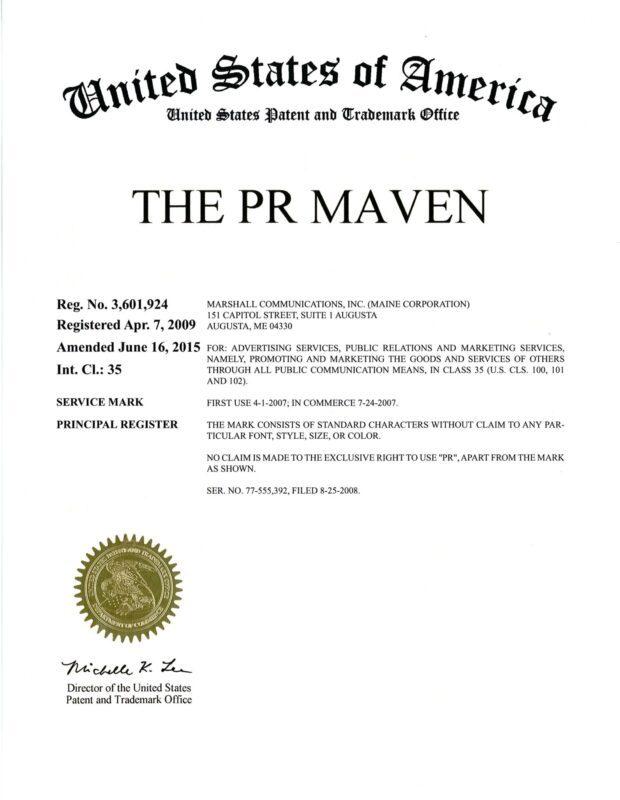 PR Maven Trademark