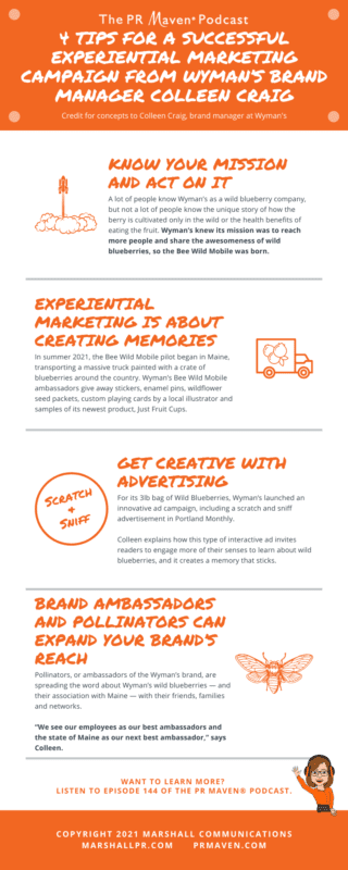 4 Tips for a Successful Experiential Marketing Campaign from Wyman's Brand Manager Colleen Craig
