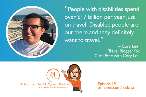 Cory Lee, Travel Blogger for Curb Free with Cory Lee