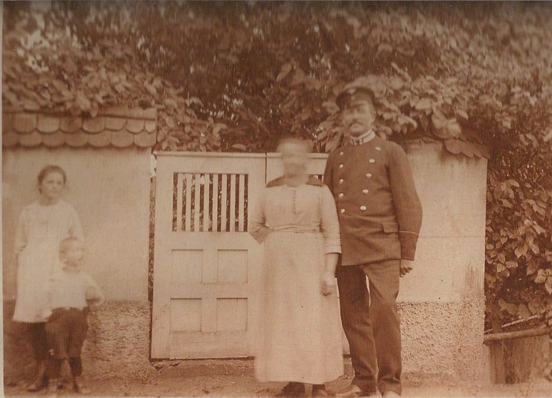 Pictured are Nancy's great grandfather and grandmother at their house by the train station in Illingen, Germany.