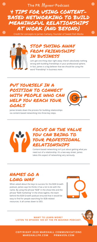 4 Tips for Using Content-Based Networking to Build Meaningful Relationships at Work (And Beyond)