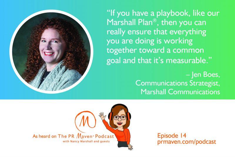 Jennifer Boes, Communications Strategist for Marshall Communications