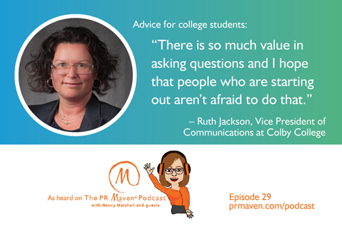Ruth Jackson, the vice president of communications at Colby College