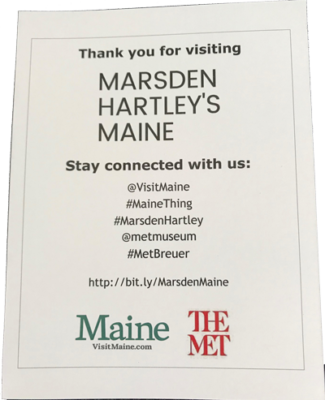 Marsden Hartley's Maine thank you note