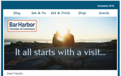 Bar Harbor Chamber of Commerce e-newsletter