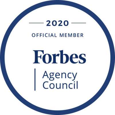 Forbes Accredited Agency 2020 badge