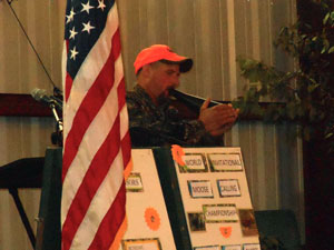 Kevin Dechaine at the World Invitational Moose Calling Championship