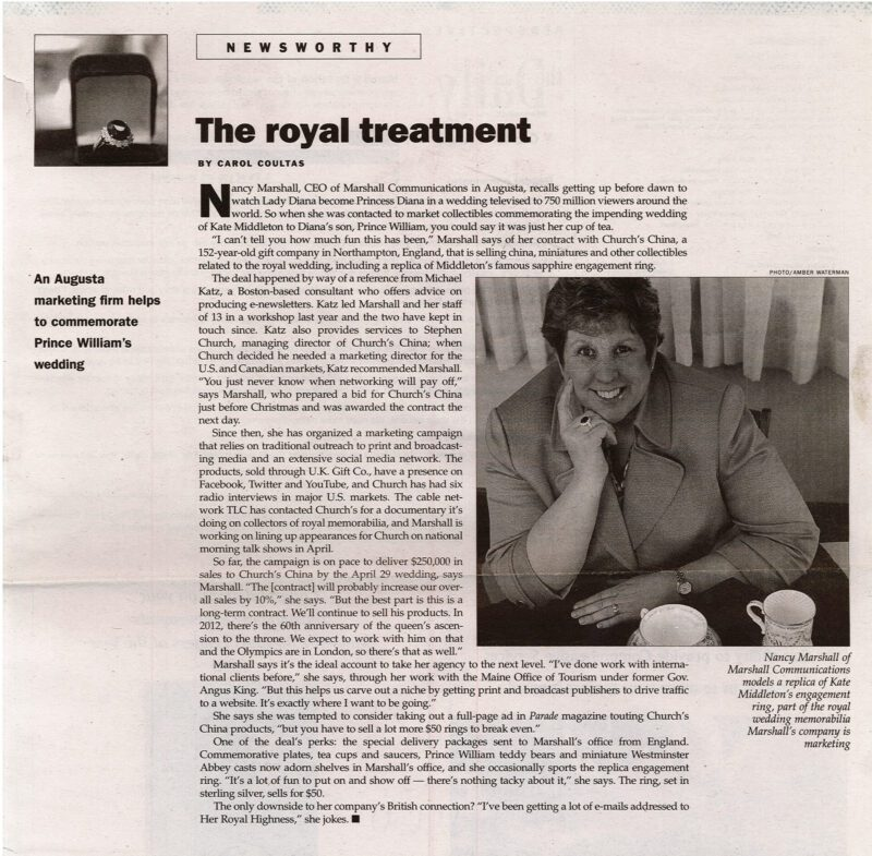 Royal treatment article